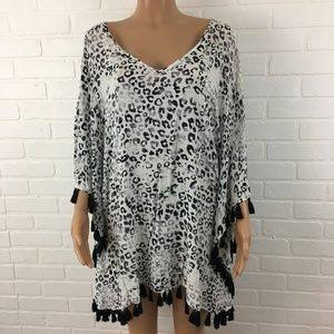 Animal print coverup